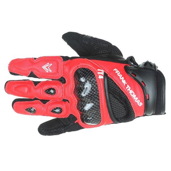 Frank Thomas Omega Black Red Motorcycle Gloves Back