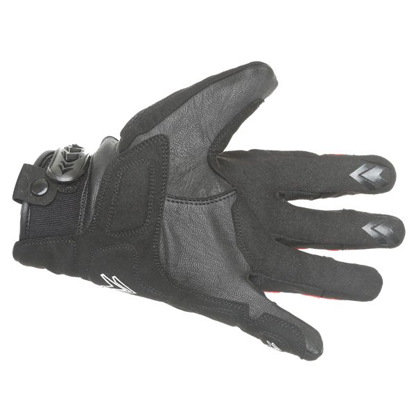 Frank Thomas Omega Black Red Motorcycle Gloves Palm