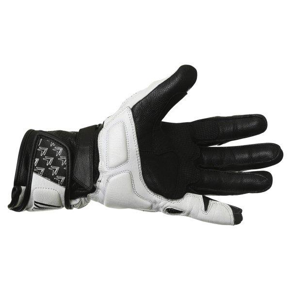 Frank Thomas Beta Black White Motorcycle Gloves Palm