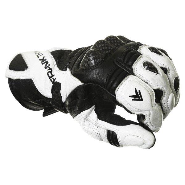 Frank Thomas Beta Black White Motorcycle Gloves Knuckle