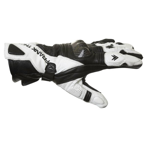 Frank Thomas Beta Black White Motorcycle Gloves Thumb side