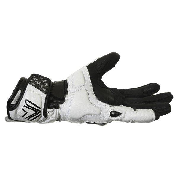 Frank Thomas Beta Black White Motorcycle Gloves Little finger side
