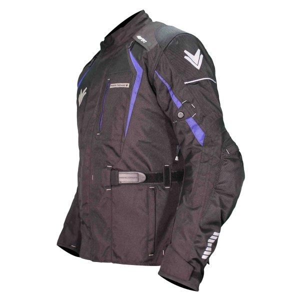 Frank Thomas FTW703 Saturn Mens Black Blue Textile Motorcycle Jacket Side