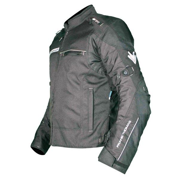 Frank Thomas FTW704 Neptune Mens Black Textile Motorcycle Jacket Side