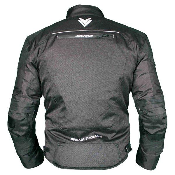 Frank Thomas FTW704 Neptune Mens Black Textile Motorcycle Jacket Back