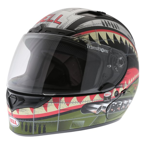 Bell Qualifier DLX Devil Mc Full Face Motorcycle Helmet Front Left