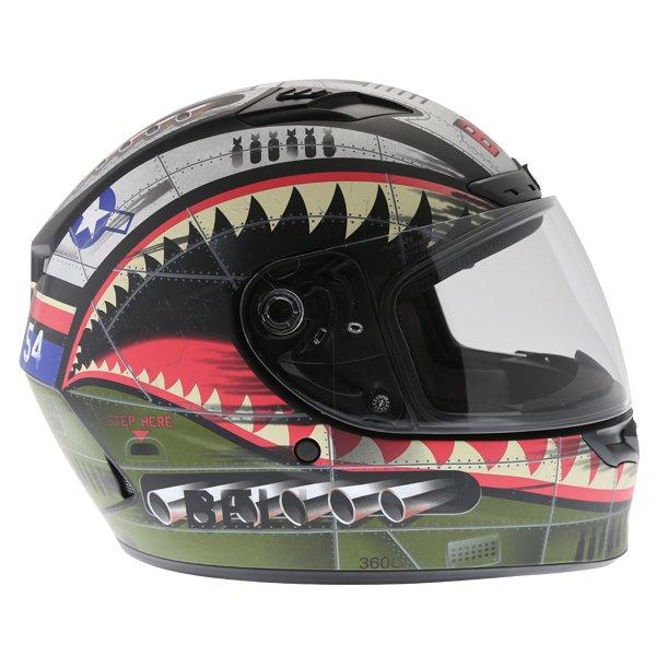 Bell Qualifier DLX Devil Mc Full Face Motorcycle Helmet Right Side