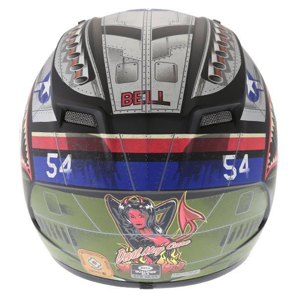 Bell Qualifier DLX Devil Mc Full Face Motorcycle Helmet Back