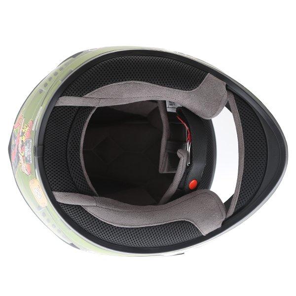 Bell Qualifier DLX Devil Mc Full Face Motorcycle Helmet Inside