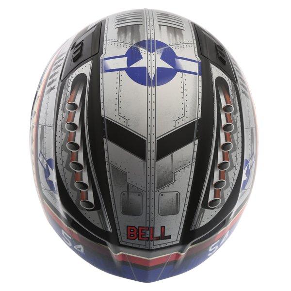 Bell Qualifier DLX Devil Mc Full Face Motorcycle Helmet Top