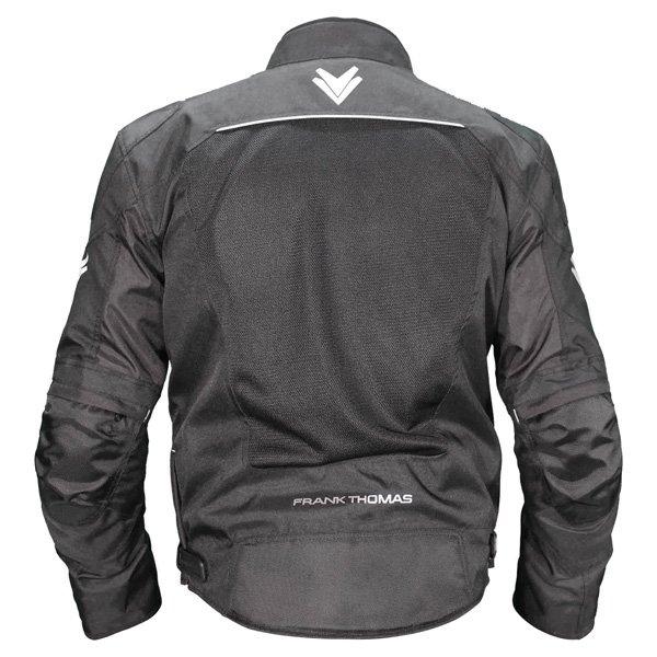 Frank Thomas FTW705 Neptune Air Mens Black Textile Motorcycle Jacket Back