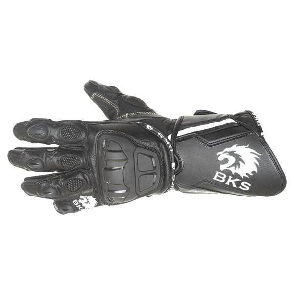BKS Race Evo Black Motorcycle Gloves Back