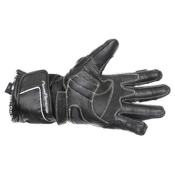 BKS Race Evo Black Motorcycle Gloves Palm
