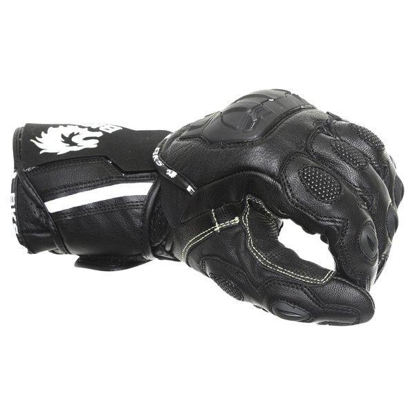 BKS Race Evo Black Motorcycle Gloves Knuckle