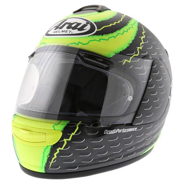 Arai Chaser-V Crutchlow Yellow Full Face Motorcycle Helmet Front Left