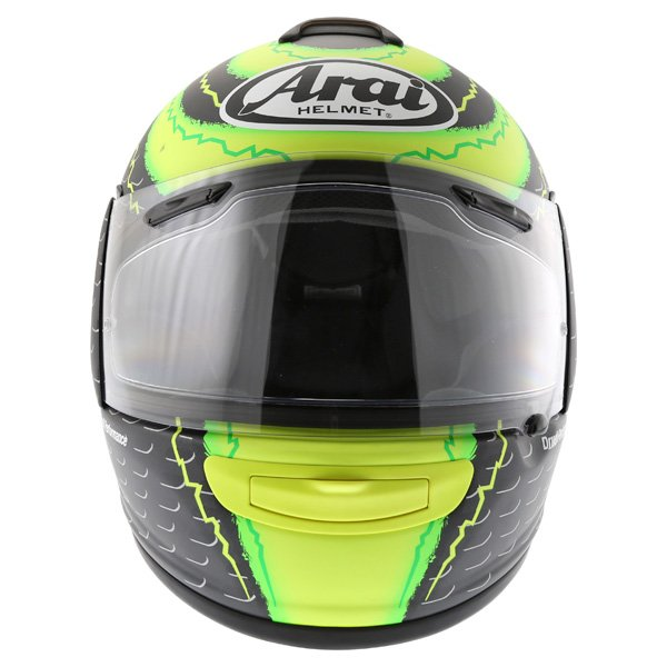 Arai Chaser-V Crutchlow Yellow Full Face Motorcycle Helmet Front