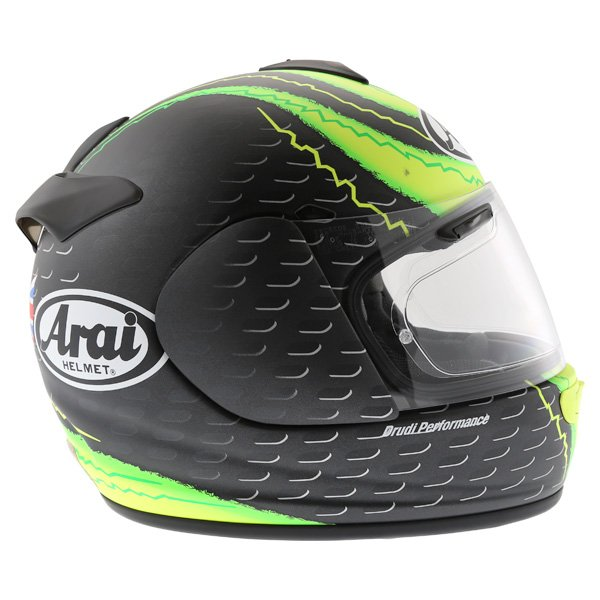 Arai Chaser-V Crutchlow Yellow Full Face Motorcycle Helmet Right Side