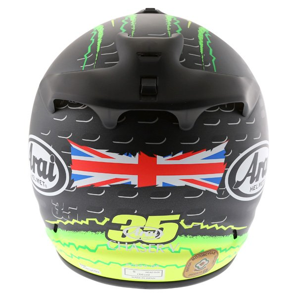 Arai Chaser-V Crutchlow Yellow Full Face Motorcycle Helmet Back