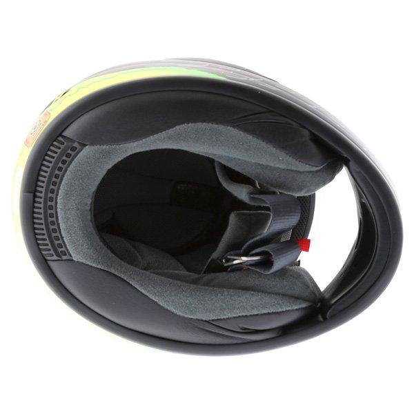 Arai Chaser-V Crutchlow Yellow Full Face Motorcycle Helmet Inside
