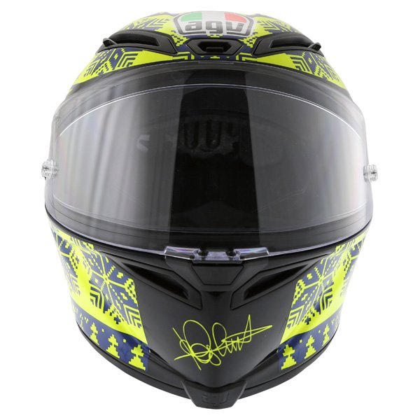 AGV Corsa Valentino Rossi Winter Test Snowflake Full Face Motorcycle Helmet Front