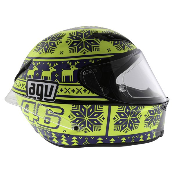 AGV Corsa Valentino Rossi Winter Test Snowflake Full Face Motorcycle Helmet Right Side