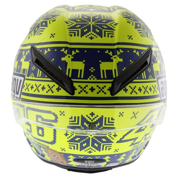 AGV Corsa Valentino Rossi Winter Test Snowflake Full Face Motorcycle Helmet Back