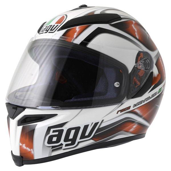 AGV K5 Hurricane White Red Black Full Face Motorcycle Helmet Front Left