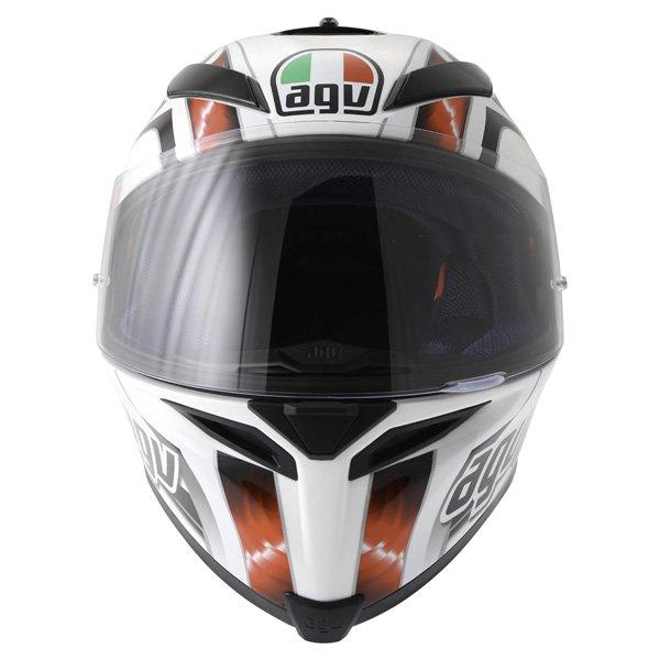 AGV K5 Hurricane White Red Black Full Face Motorcycle Helmet Front