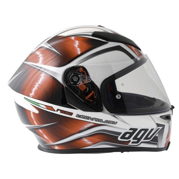 AGV K5 Hurricane White Red Black Full Face Motorcycle Helmet Right Side
