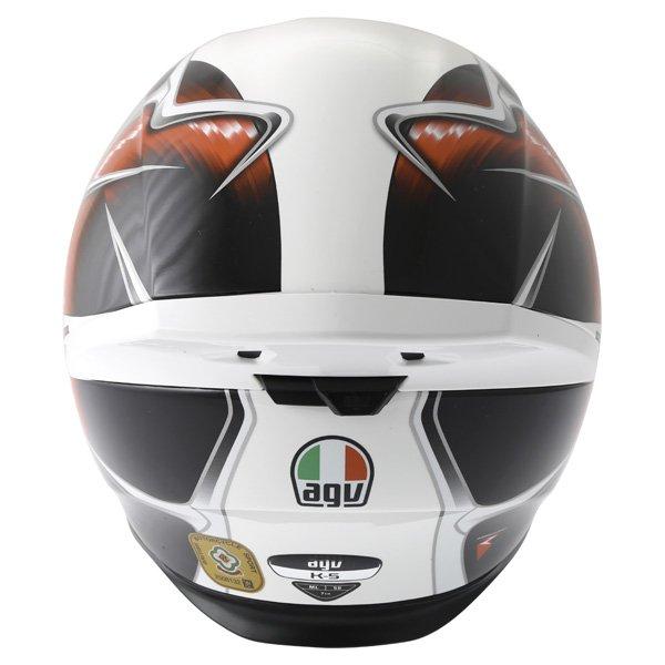 AGV K5 Hurricane White Red Black Full Face Motorcycle Helmet Back