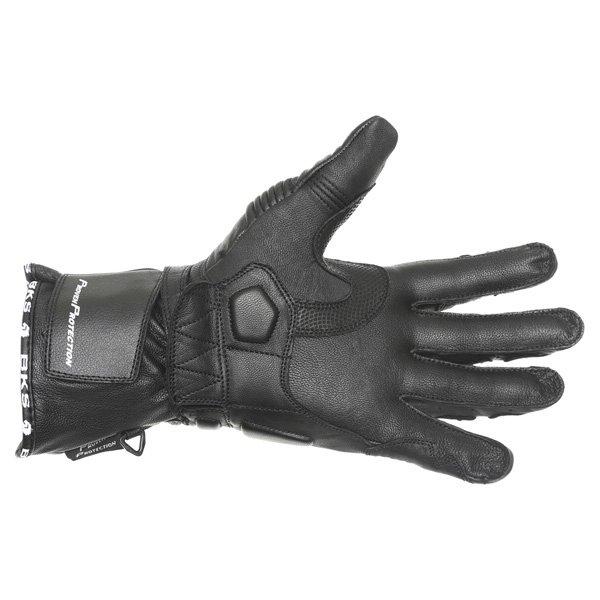 BKS Fury Black Motorcycle Glove Palm