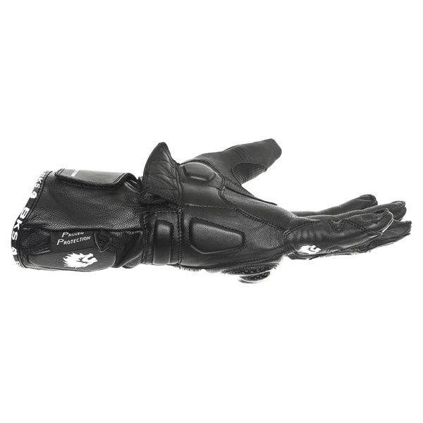 BKS Fury Black Motorcycle Glove Little finger side