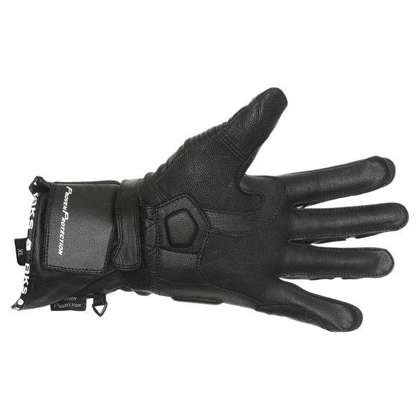 BKS Fury Black Blue Motorcycle Gloves Palm