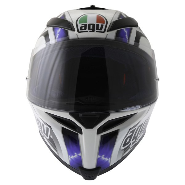 AGV K5 Hurricane White Blue Black Full Face Motorcycle Helmet Front
