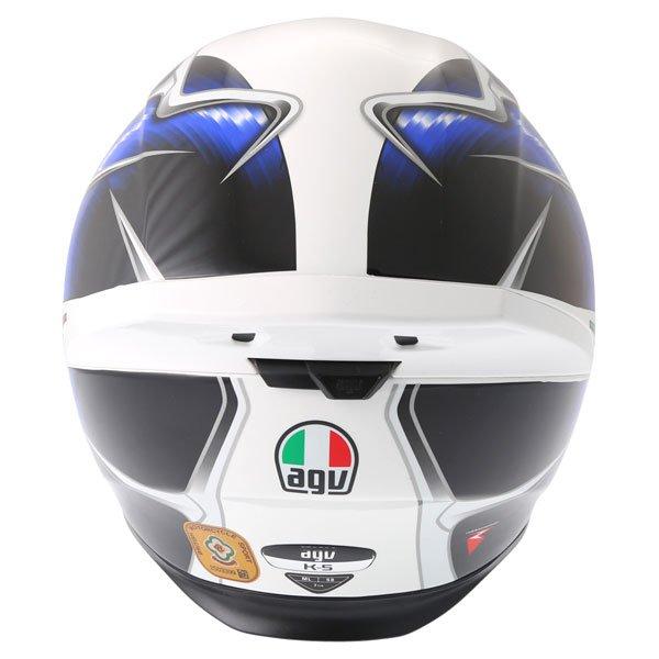 AGV K5 Hurricane White Blue Black Full Face Motorcycle Helmet Back