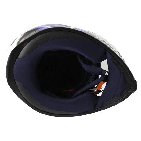 AGV K5 Hurricane White Blue Black Full Face Motorcycle Helmet Inside
