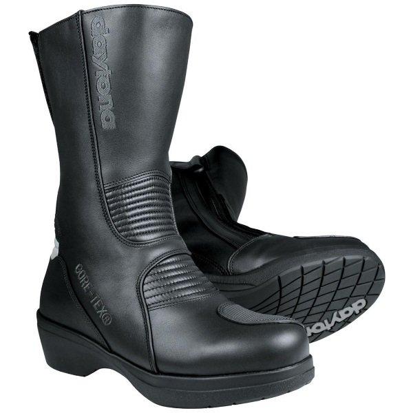 Daytona Lady Pilot Black Ladies Motorcycle Boots Pair