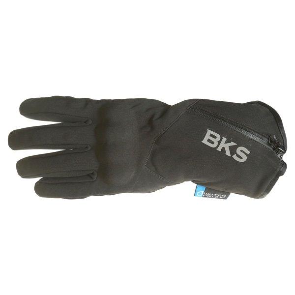BKS Pulse Black Motorcycle Gloves Back