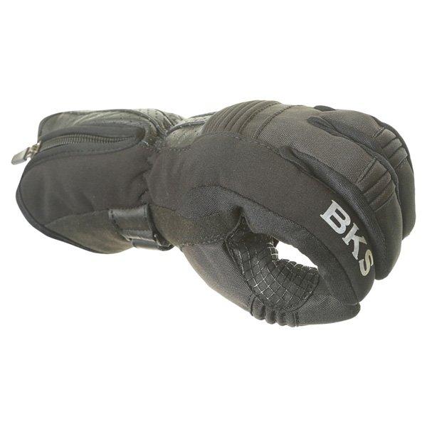 BKS Isla Ladies Black Motorcycle Gloves Knuckle