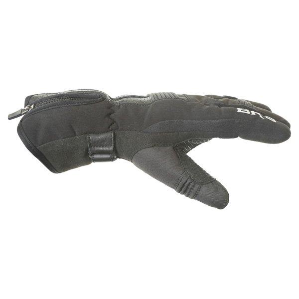 BKS Isla Ladies Black Motorcycle Gloves Thumb side