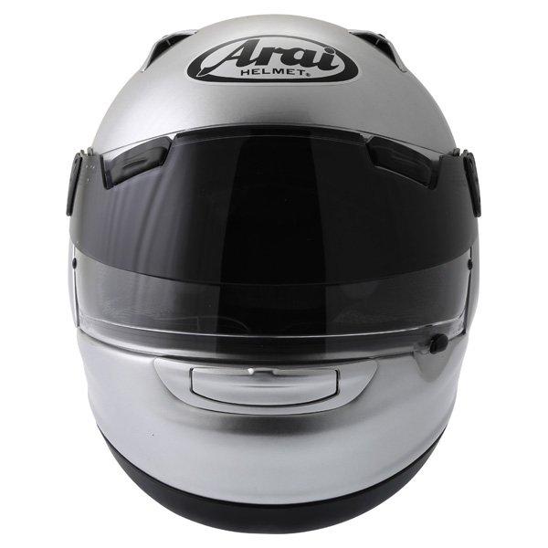 Arai Quantum ST Pro Alu Silver Full Face Motorcycle Helmet Front