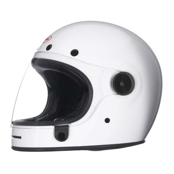 Bell Bullitt White Full Face Motorcycle Helmet Left Side