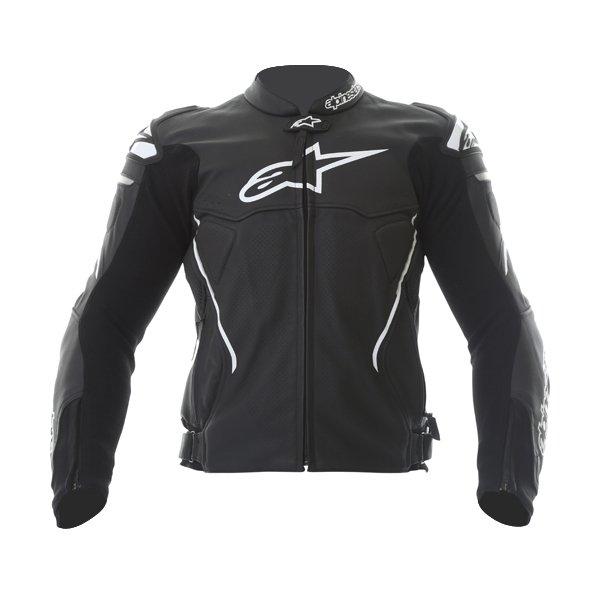 Alpinestars Atem Black Leather Motorcycle Jacket Front