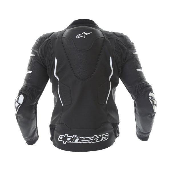 Alpinestars Atem Black Leather Motorcycle Jacket Back