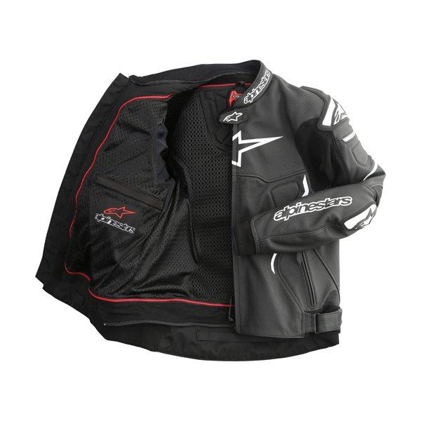 Alpinestars Atem Black Leather Motorcycle Jacket Inside