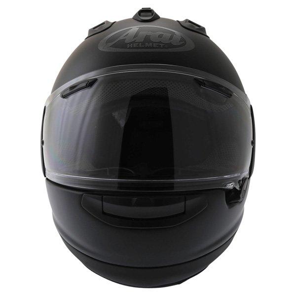 Arai RX-7V Frost Black Full Face Motorcycle Helmet Front