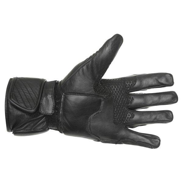 BKS Racing Pro Black Motorcycle Gloves Palm