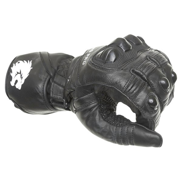 BKS Racing Pro Black Motorcycle Gloves Knuckle
