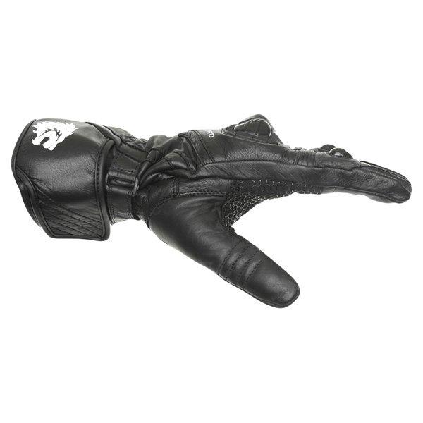 BKS Racing Pro Black Motorcycle Gloves Thumb side