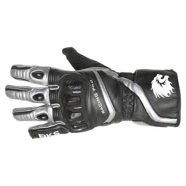 BKS Racing Pro Black Gun Motorcycle Glove Back
